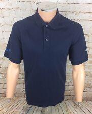 Adidas Golf Climalite Stretch Polo Shirt Top T-Shirt Blue Sz Medium / M Mens