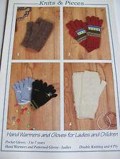 Motif tricot pour enfant et femme gants en DK, chers handwarmers en 4 plis