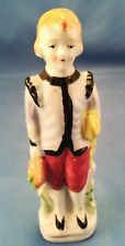 VINTAGE COLONIAL BOY LIGHT BLUE JACKET FIGURINE Made in Occupied Japan
