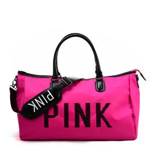 Fushia Pink Zipped Fashion Bag Holdall PINK sequin detail Gym Shopping School