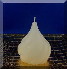 Edle Kerze Rohling Kleiner gedrehter Tropfen weiß - Sonderform - Kerzenkunst -
