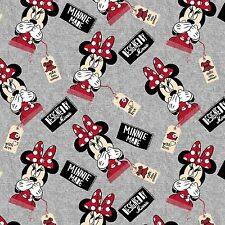 "Disney Knit Designed by Minnie  96% cotton 4% Spandex 58"" fabric by the yard"