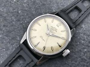 Vintage 1958 s/s ENICAR SHERPA ultrasonic automatic wristwatch with EPSA case !