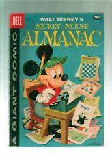 Mickey Mouse Almanac #1  Dell Giant Comic 1957  Walt Disney Barks Art