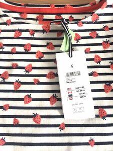 Joules Femmes Bess Top Rouge RRP £ 44.95 vente