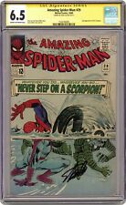 Amazing Spider-Man (1963 1st Series) 29 CGC 6.5 SS Stan Lee 1504766005