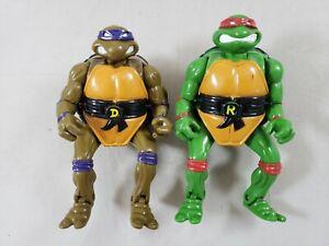 Vintage tmnt action figure lot Mutations Mutatin Raphael & Donatello