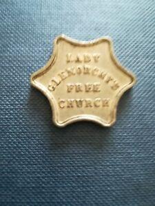 Communion token. Obv- Lady Glenorchys Free Church. Rev-This do etc. 27mm hexagon