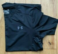 Under Armour Black Mesh Back  Short Sleeve Training T-Shirt L