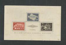 Croatia 1945 Block 8 - certificate Raybaudi - 1.900 eur catalog value !
