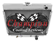 1967-19704 Row Champion Ford Mustang All Aluminum 4 Row KR Radiator Fan Co