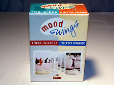 """NIB Free-Standing """"MOOD SWINGS"""" CAT THEME Two-Sided PICTURE FRAME"""