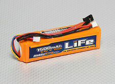HobbyKing 1500mAh 3S 9.9v LiFe Transmitter TX Battery Pack JR Spektrum Futaba