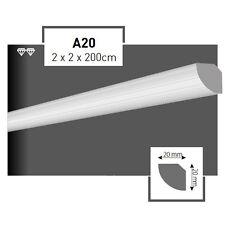50 Meter Styroporleisten Zierprofile Stuckprofile Stuckleiste Dekor 20x20mm A20