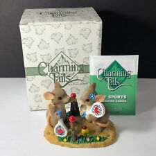 Charming Tails Figurine original box mouse mice Limited edition two love tennis