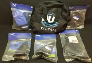 DIVING UNLIMITED INTERNATIONAL DRYSUIT DUI ACCESSORIES 5 ITEMS IN TOTAL SNORKEL