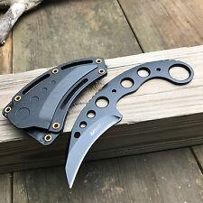 "MTech 7"" 440 Stainless Black Skeletonized Tactical Combat Karambit Neck Knife"