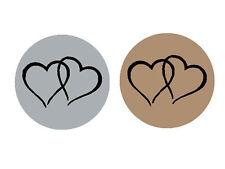 48 Colour Twin Heart Seals/Stickers Wedding Invitations