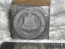 Vintage NORTHWESTERN BELL TELEPHONE & TELEGRAPH LOGO Printers Block Metal Stamp