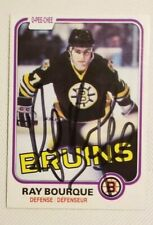 Ray Bourque Autographed 1981-82 OPC Card #1 Boston Bruins