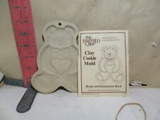 THE PAMPERED CHEF TEDDY BEAR COOKIE MOLD - NEW WITH RECIPE BOOKLET 1994 DATE