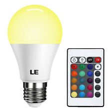 LE 16 Color RGB 6W E26 A19 LED Magic Light Bulb Lamp Spotlight + Remote Control