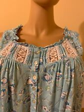 Eileen west nightgown 2X MODAL / Spandex   No sleeves Sky Blue White