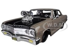 "1965 CHEVROLET MALIBU SS GREY ""CLASSIC MUSCLE"" 1/24 DIECAST BY MAISTO 31138"