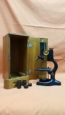 Bausch & Lomb Optical Co, Rochester New York Microscope - 1920  w/Wood Case