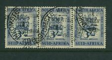 SOUTH AFRICA - 1954 3/- Arms (joined strip of 3) (ME090)**