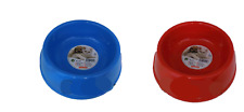 feeder and DRINKING FOUNTAIN dog or cats 6 5/16in diameter, several colours