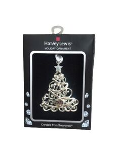 New ! Harvey Lewis 2019 Christmas Tree Ornament with Crystals from Swarovski