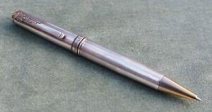 Excellent Vintage Marlen Italy 925 Solid Silver Ballpoint Pen