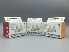LIFEFACTORY 2 Silicone Nipples BPA Free - Stage 3 (6+ Months) - Bundle Lot of 3