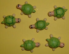 10 Turtle Card Toppers (Wooden)