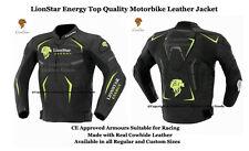 Lionstar energía Moto Moto Chaqueta De Cuero Real Con CE aprobado armaduras