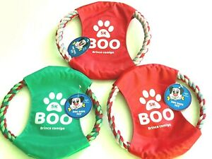 Dog Pull Toy Dog Frisbee Puppy Toy Tough Rob Ring Chew Pulling Teething Toy