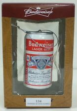 Vintage Bud Budweiser Can Christmas Ornament  Made By Kurt S. Adler NEW