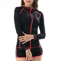 Belleap Rash Guard Mens Zip-up Long Sleeve Swimwear UV Protection 0330
