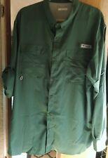 Columbia Men's PFG Bahama II Convertible Performance Shirt XL Green