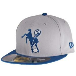 NFL New Era 59Fifty Indianapolis Colts Fitted Hat Size 6 7/8 Retro Horse Logo Sz