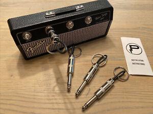 Licensed Fender Mini Twin Amp Jack Rack Key Holder (Incl. 4 Keychains) New Other