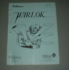 Williams Warlock Manual & Schematics - Original