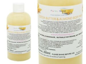 1bottle Liquid Cocoa Butter & Almond Body Wash 100% Natural SLS Free 250ml