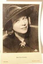 21353 Ross Film Foto AK 3338/1 Bertha Drews mit Hut Kragenspange um1940 photo PC