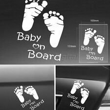 BABY ON BOARD Creative Vinly Reflective Car Auto Decal Window Warning Sticker