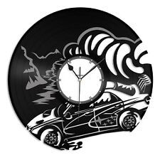 Subaru Vinyl Wall Clock Record Sport Cars Decorative Gift Home Living Room Decor
