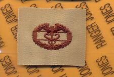 US Army CMB Combat Medical Badge Desert DCU cloth patch