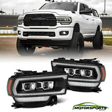 Fit 19-21 Dodge Ram 2500 LUXX-Series Black Projector Headlights Replacement Pair