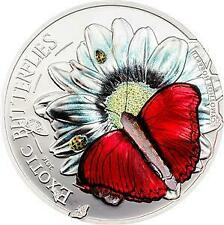 """Tanzania 2016 1000 Schillings """"Exotic Butterflies"""" Silver Proof  Coin"""